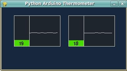 Hydroduino: Arduino multi thermometer (Processing vs Python)